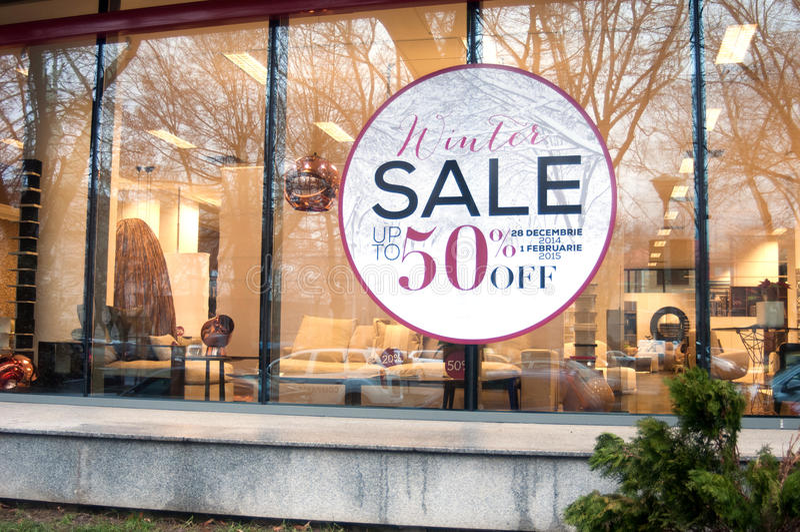 Furniture sales royalty free stock photos