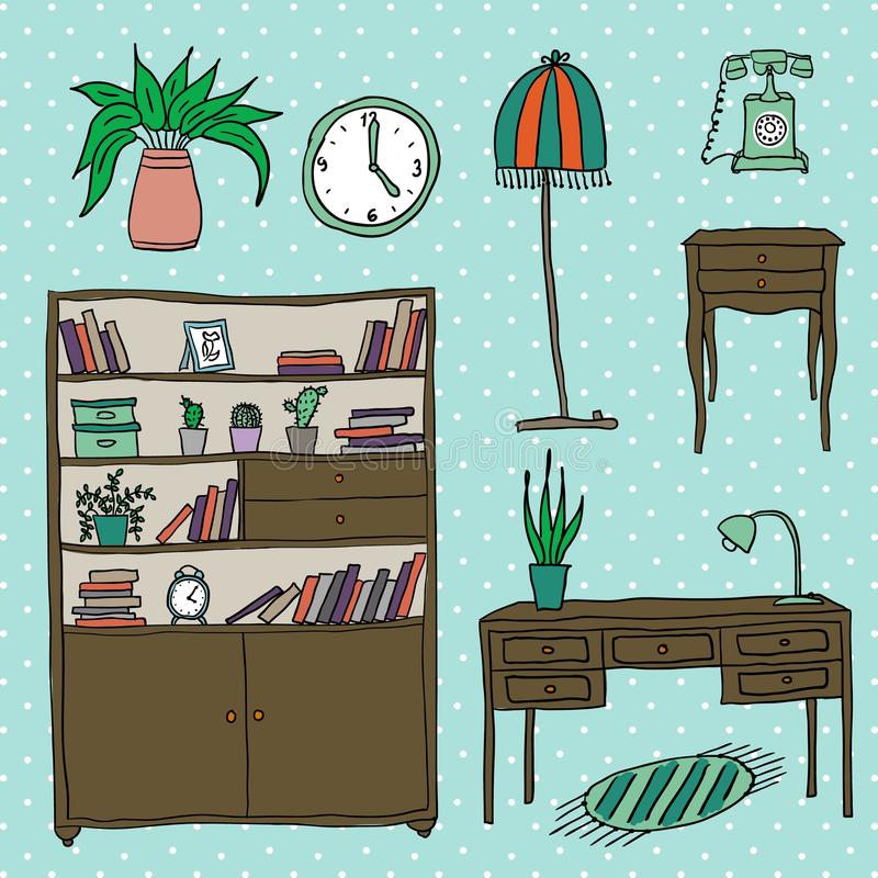 Download Furniture - Set Of Design Elements Stock Vector - Image: 42383380