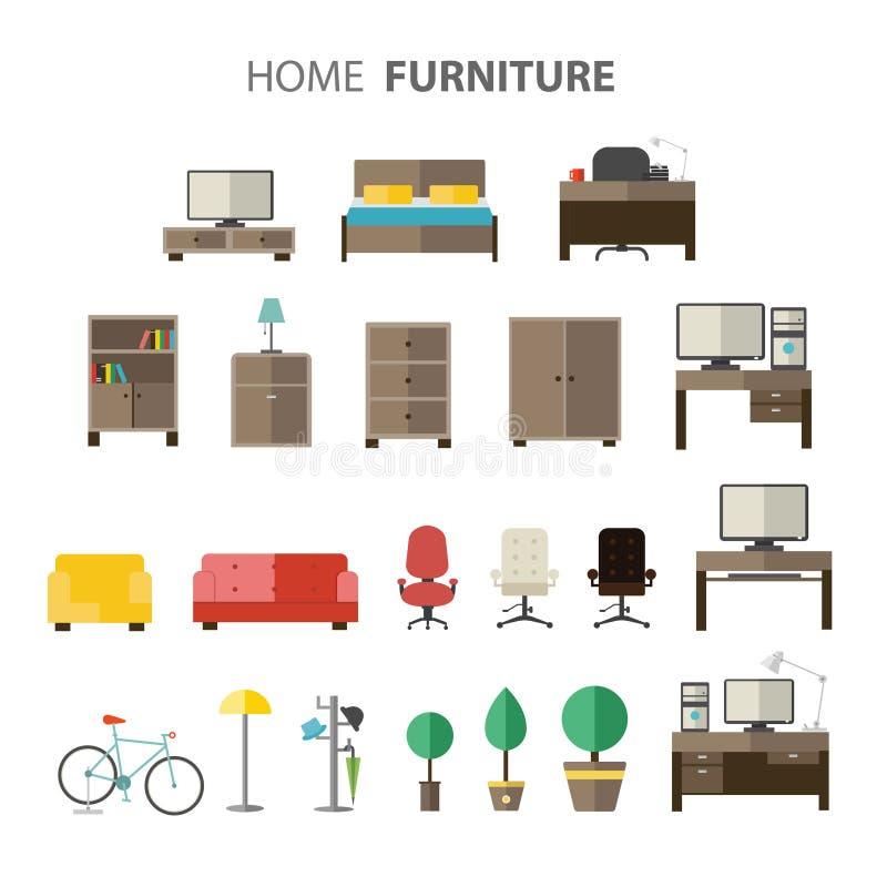 Furniture set for house. vector illustration