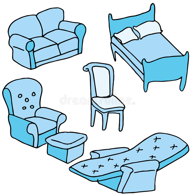 Furniture Set. An image of a set of furniture royalty free illustration