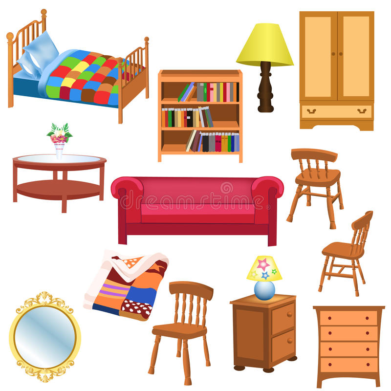 Furniture Ideas For Living Room Stock Vector: Furniture Set Stock Vector. Illustration Of Table, Blanket