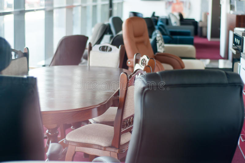 At the furniture shop royalty free stock image
