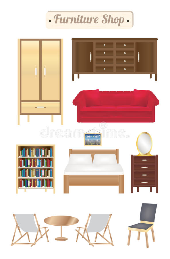 Wood Bookcase Stock Illustration Illustration Of Square