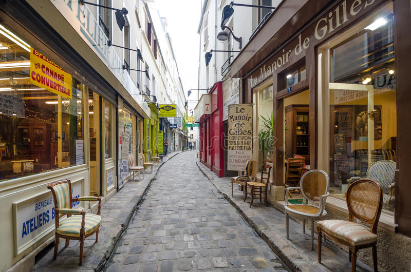 Download Furniture Shops On Passage Du Chantier In Paris Editorial Image    Image Of Antique,