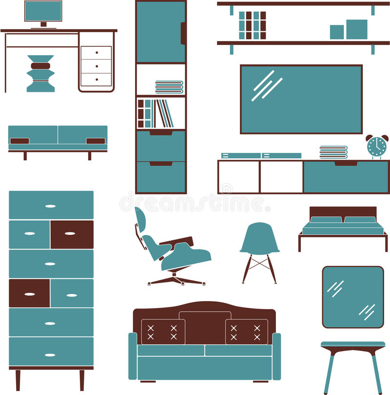 Furniture sofa chair bed wardrobe armchair stock images