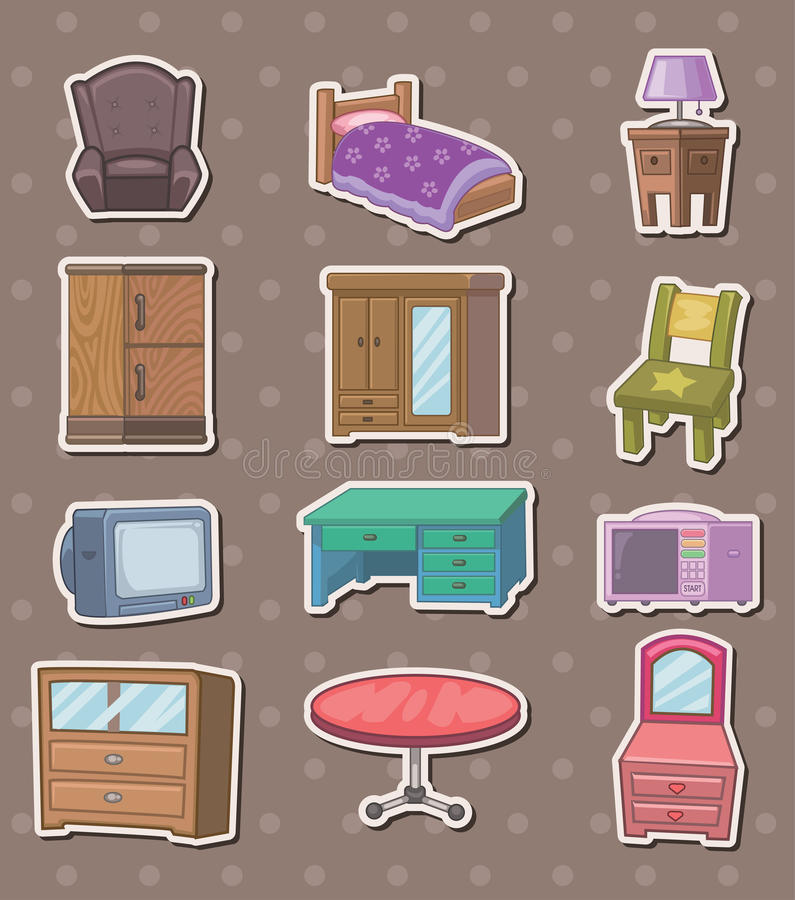 Download Furniture stickers stock vector. Image of decoration - 24585594