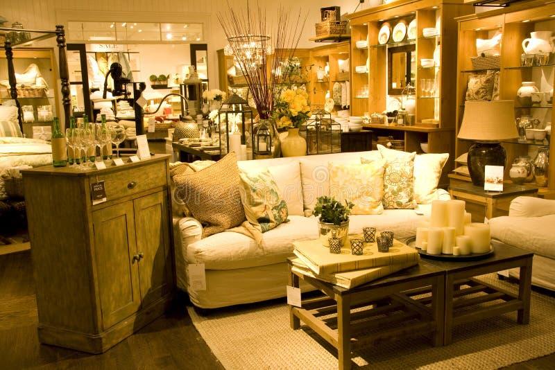 Furniture store stock image