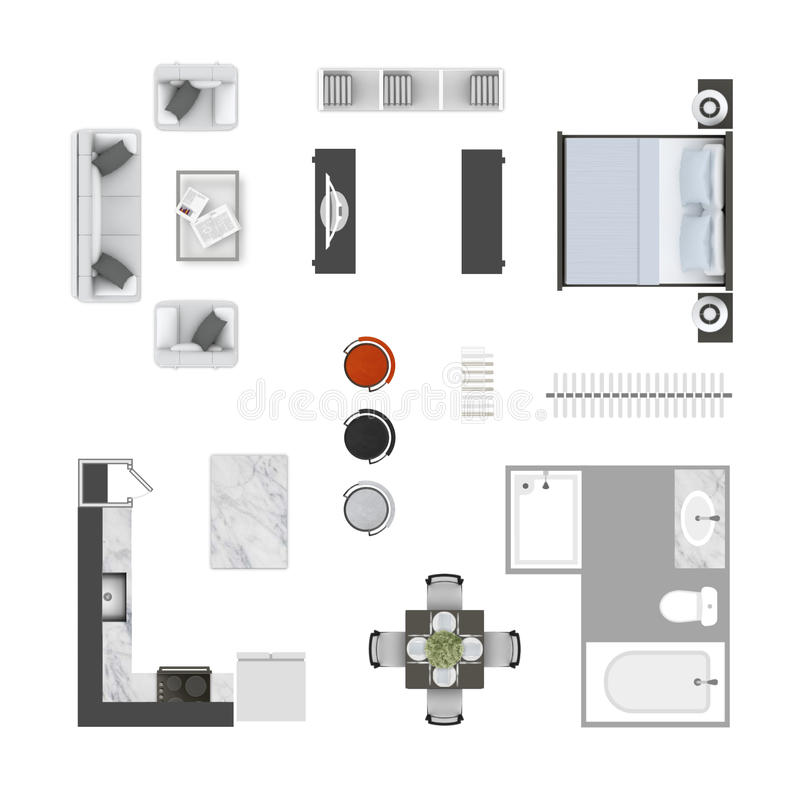 Furniture Top View Stock Photo Image Of Isolated Bathtub 98839958