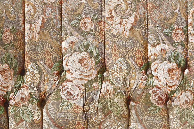 Pattern Of Classical Ornate Floral Tapestry Stock Photo
