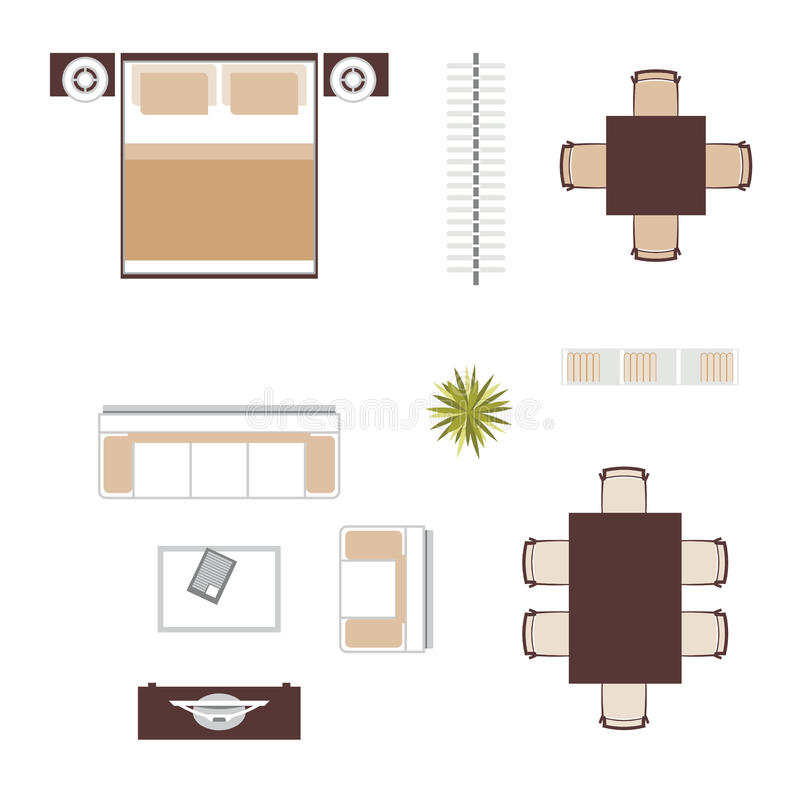 Download Furniture Top View Vector Stock Illustration Of Plant
