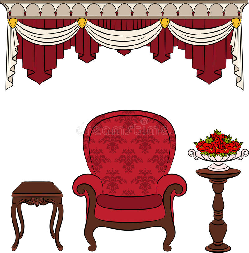 Download Furniture For Vintage Interior Stock Vector - Image: 21497073