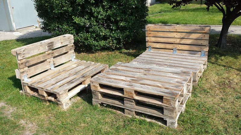 Download Furniture With Wooden Pallets Stock Photo