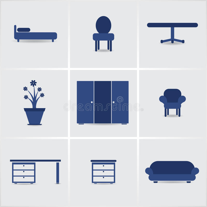 Furnniture d'icônes illustration stock