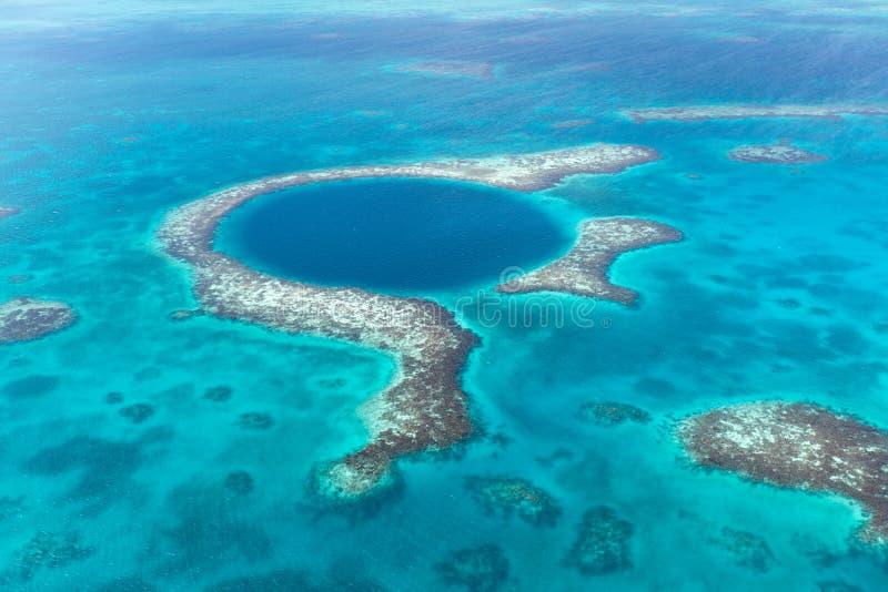 Furo azul, Belize fotografia de stock royalty free