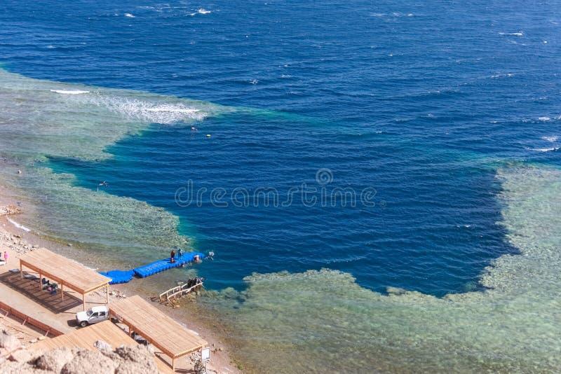 Furo azul, Dahab, Egito imagens de stock royalty free