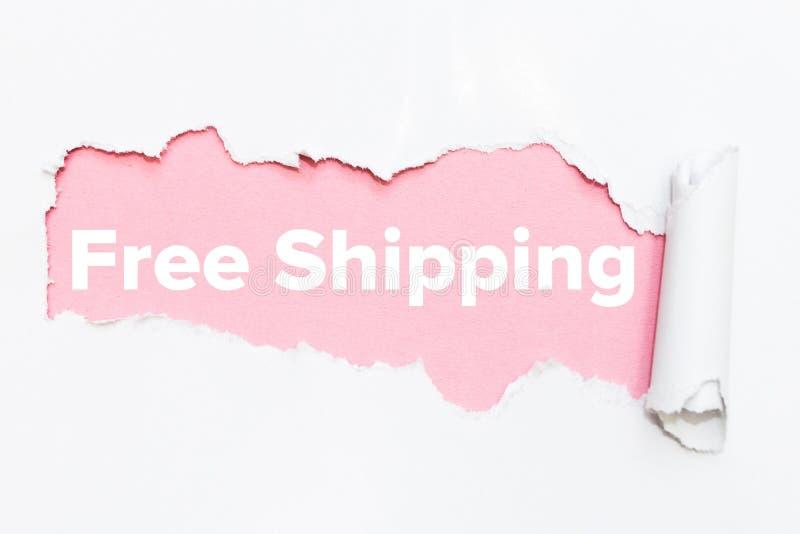 Furo cor-de-rosa no Livro Branco Transporte livre imagem de stock