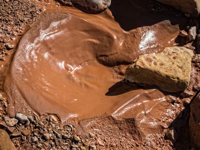 Furo da lama após a inundação repentina fotos de stock royalty free