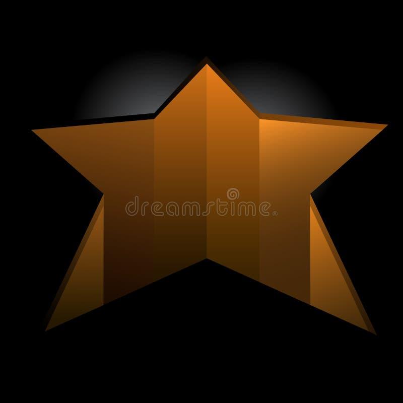 Furo dado forma estrela no assoalho ilustração do vetor