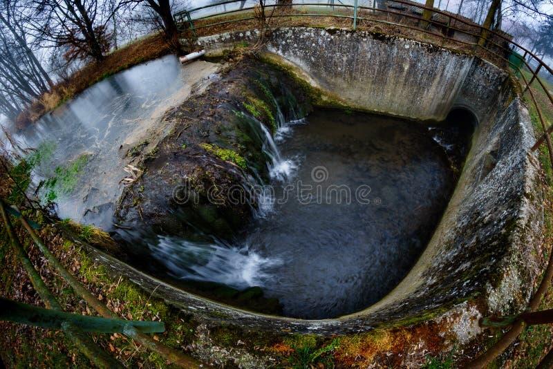 Furo de água foto de stock