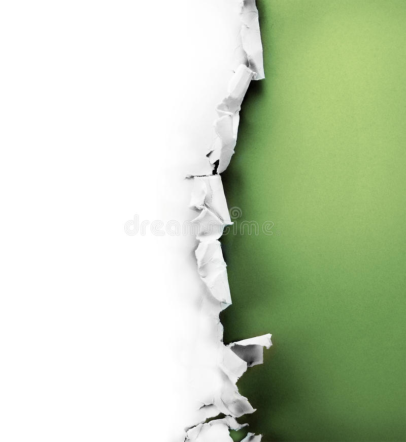 Furo de papel. imagem de stock royalty free