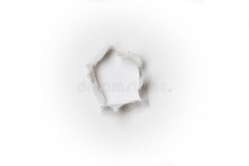 Furo de papel foto de stock