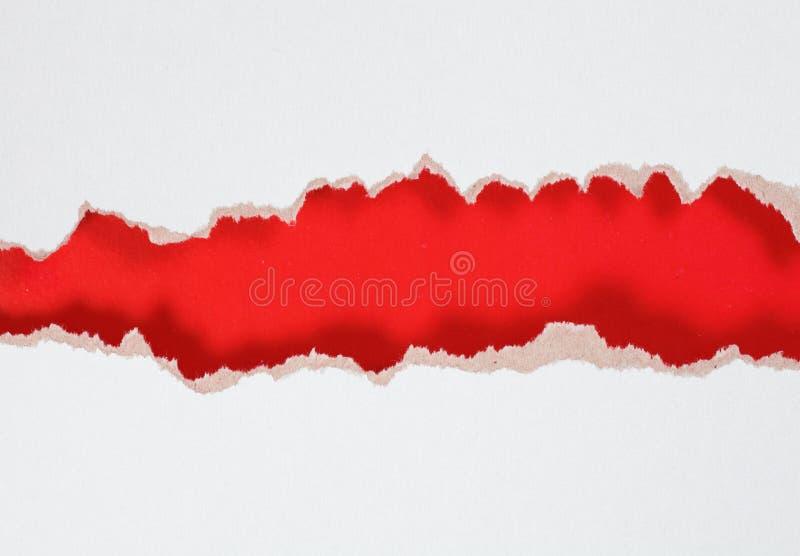 Furo de papel com molde rasgado do projeto das bordas imagem de stock