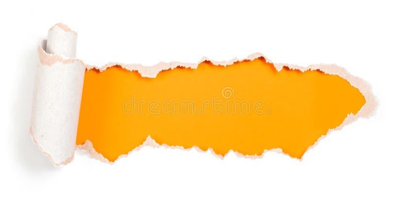 Furo de papel com molde rasgado do projeto das bordas fotos de stock
