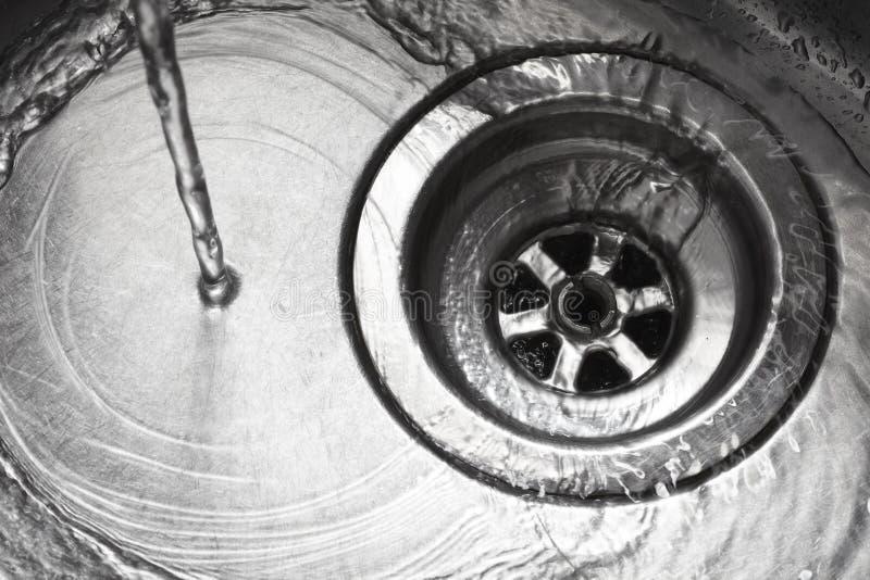 Furo de plugue do dissipador do aço inoxidável foto de stock