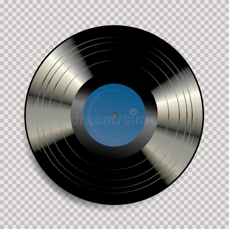 Furo do azul do vinil de LP ilustração stock