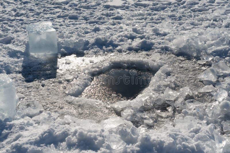 Furo Do Gelo Imagens de Stock