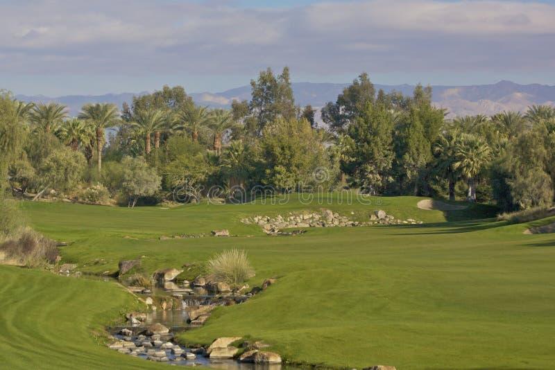 Furo do golfe de Palm Desert fotografia de stock royalty free