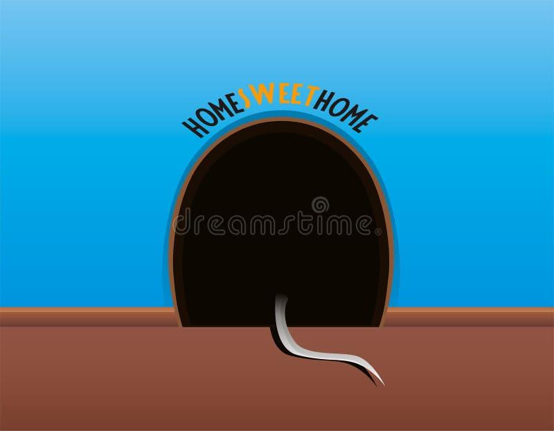 Furo do rato ilustração stock