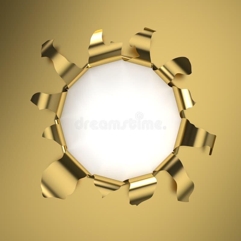 Furo dourado ilustração royalty free