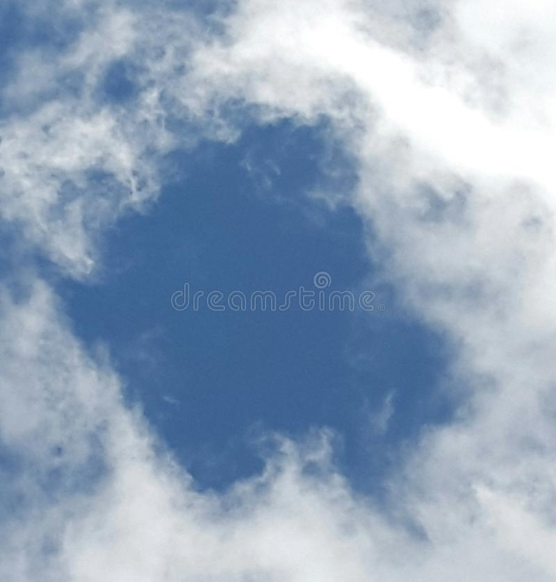 Furo no céu imagens de stock