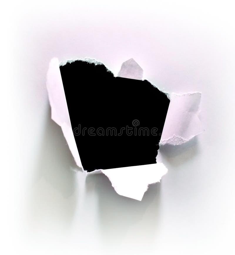 Furo no Livro Branco imagem de stock royalty free