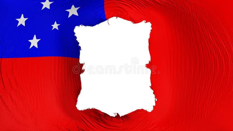 Furo quadrado na bandeira de Apia ilustração royalty free