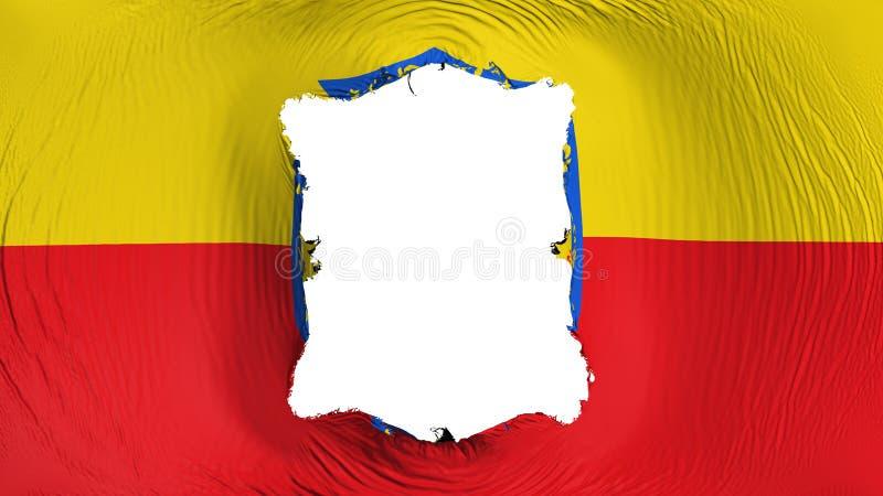 Furo quadrado na bandeira de Bogotá ilustração do vetor