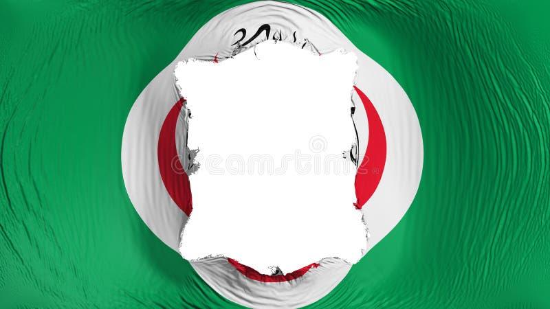 Furo quadrado na bandeira de OIC ilustração royalty free