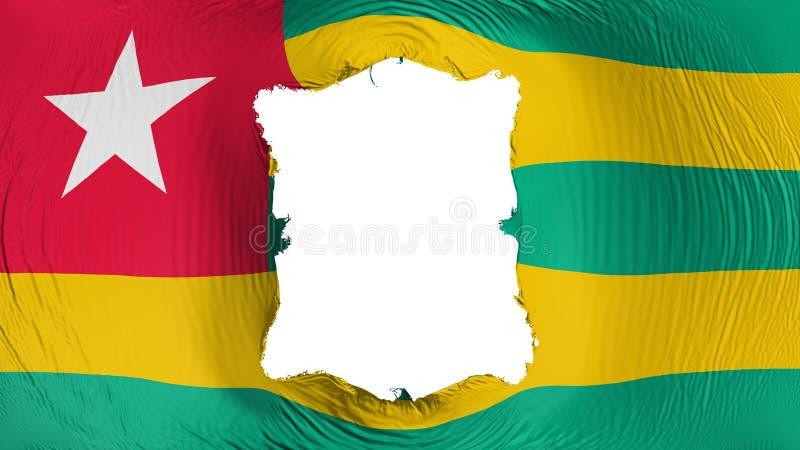 Furo quadrado na bandeira de Togo ilustração royalty free