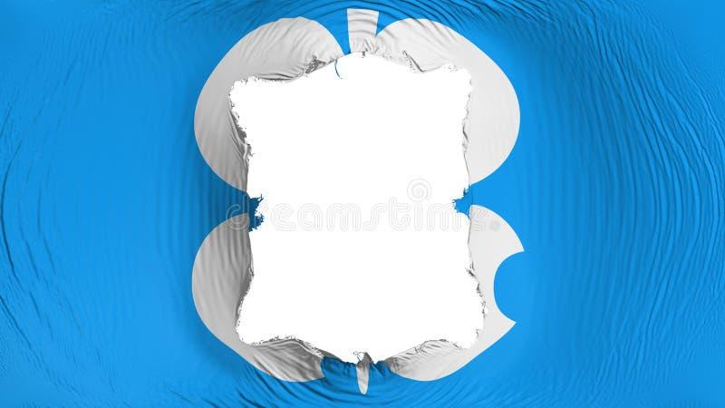 Furo quadrado na bandeira do OPEC ilustração royalty free