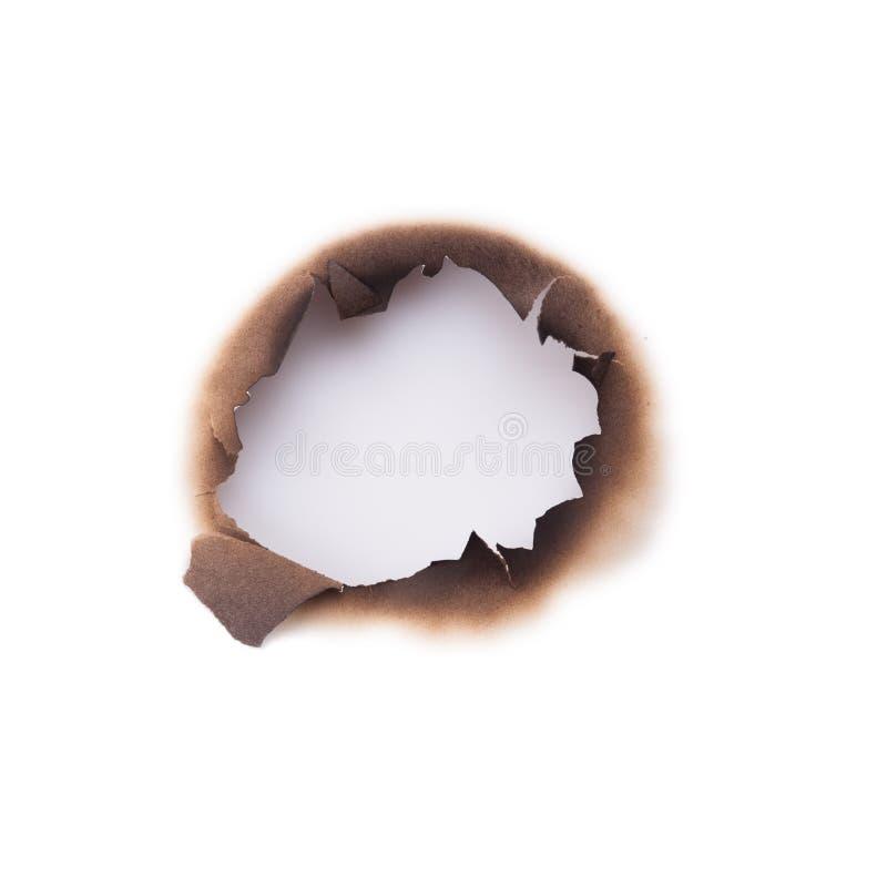 Furo queimado imagem de stock