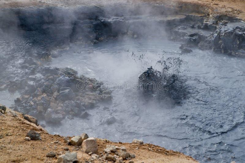 Furo vulcânico da lama imagem de stock royalty free