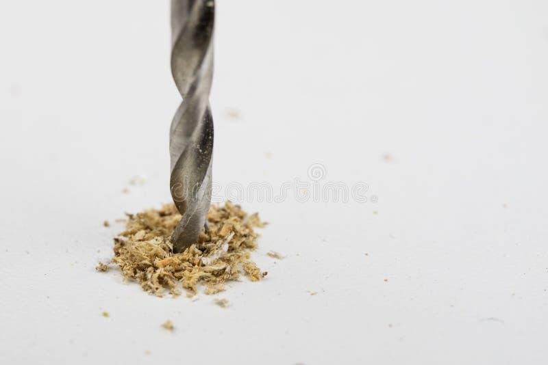 Furos de perfuração no cartão Acessórios da obra de carpintaria usados no engodo imagem de stock royalty free