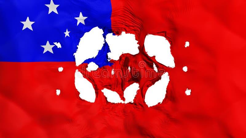 Furos na bandeira de Apia ilustração do vetor