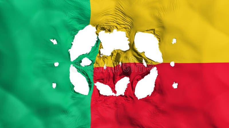 Furos na bandeira de Benin ilustração royalty free