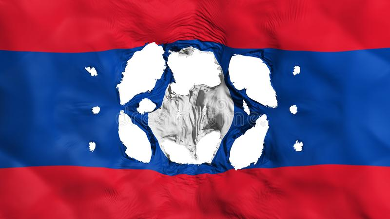 Furos na bandeira de Laos ilustração stock