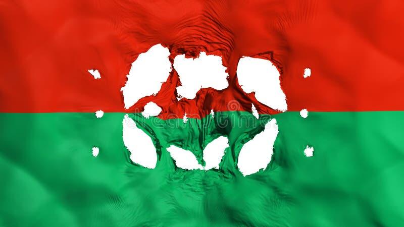 Furos na bandeira de Lapaz ilustração royalty free