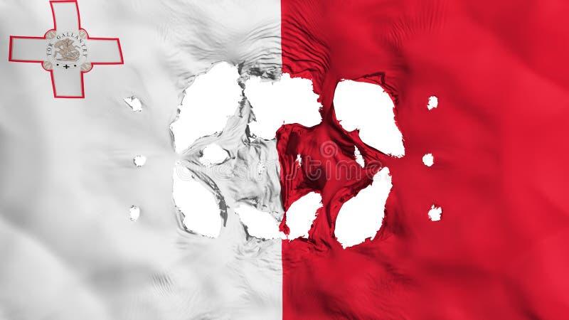 Furos na bandeira de Malta ilustração stock