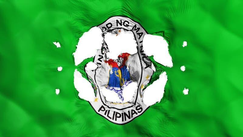 Furos na bandeira de Manila ilustração stock