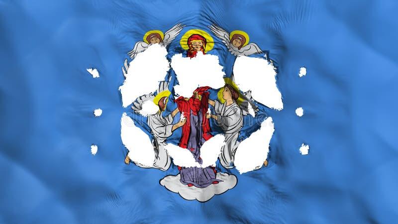 Furos na bandeira de Minsk ilustração do vetor